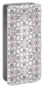 Pink And White Interlude Portable Battery Charger