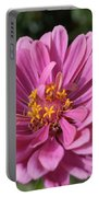 Pink And Yellow Flower Portable Battery Charger