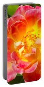 Pink And Yellow Rose Portable Battery Charger
