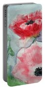 Pink Anemones Portable Battery Charger