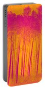 Pink Aspen Trees Portable Battery Charger
