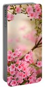 Pink Azalea Bush Portable Battery Charger