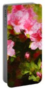 Pink Azealas Portable Battery Charger