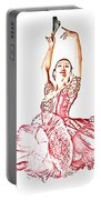 Pink Ballerina Portable Battery Charger