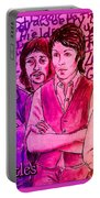 Pink Beatles From Rainbow Series Portable Battery Charger
