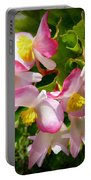 Pink Begonia Portable Battery Charger
