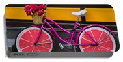 Pink Bike Portable Battery Charger
