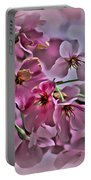 Pink Blossoms - Paint Portable Battery Charger