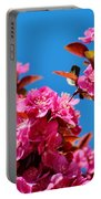 Pink Blossoms Blue Sky 031015a Portable Battery Charger