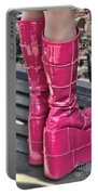 Pink Boots Portable Battery Charger by Jasna Buncic