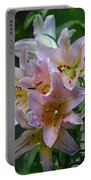Pink Bridal Bouquet Portable Battery Charger