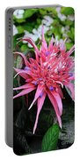 Pink Bromeliad Portable Battery Charger
