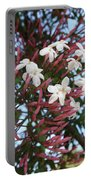 Pink Buds And Jasmine Blossom Close Up Portable Battery Charger