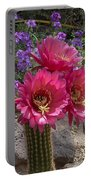 Pink Cactus Torch Portable Battery Charger
