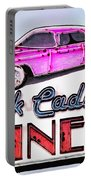 Pink Cadillac Diner Portable Battery Charger