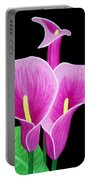 Pink Calla Lillies 2 Portable Battery Charger