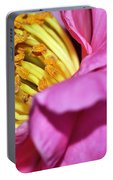 Pink Camellia And Stamen Portable Battery Charger