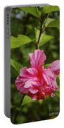 Pink Camellia  Portable Battery Charger