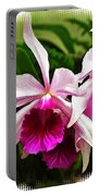Pink Cattleya Cluster Portable Battery Charger