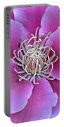 Pink Clematis Beauty Portable Battery Charger