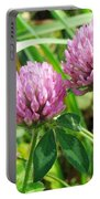 Pink Clover Wildflower - Trifolium Pratense Portable Battery Charger