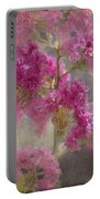 Pink Crape Myrtle Portable Battery Charger