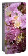 Pink Crepe Myrtle Closeup Portable Battery Charger by Carol Groenen