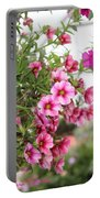 Pink Curtain Portable Battery Charger