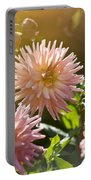 Pink Dahlia Garden Portable Battery Charger