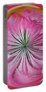 Pink Dahlia Orb Portable Battery Charger