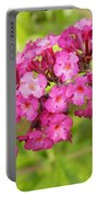 Pink Delphinium Portable Battery Charger