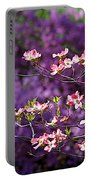 Pink Dogwood With Purple Azaleas Portable Battery Charger