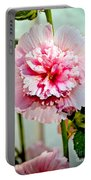 Pink Double Hollyhock Portable Battery Charger