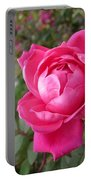 Pink Double Rose Portable Battery Charger