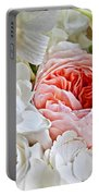 Pink English Rose Among White Roses Art Prints Portable Battery Charger