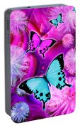 Pink Fantasy Flower Portable Battery Charger
