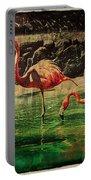Pink Flamingos - Shangri-la Portable Battery Charger