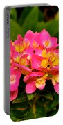 Pink Flower Austin Portable Battery Charger