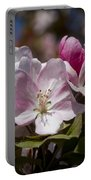 Pink Flowering Crabapple Blossoms Portable Battery Charger