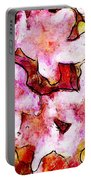 Pink Flowers 2 Portable Battery Charger