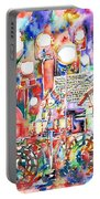 Pink Floyd Live Concert Watercolor Painting.1 Portable Battery Charger