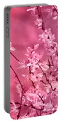 Pink Forsythia Portable Battery Charger