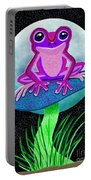 Pink Frog And Blue Moon Portable Battery Charger