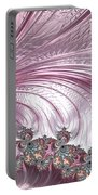 Pink Froth A Fractal Abstract Portable Battery Charger