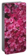 Pink Full Frame Azalea Blossoms Portable Battery Charger