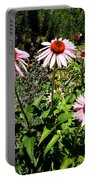 Pink Garden Portable Battery Charger