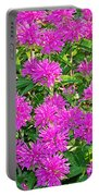 Pink Garden Flowers Portable Battery Charger