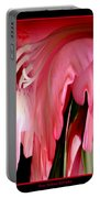 Pink Gladiolas Abstract Portable Battery Charger