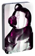 Pink Glass Bear Portable Battery Charger