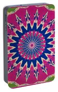 Pink Green Blue Abstract Portable Battery Charger